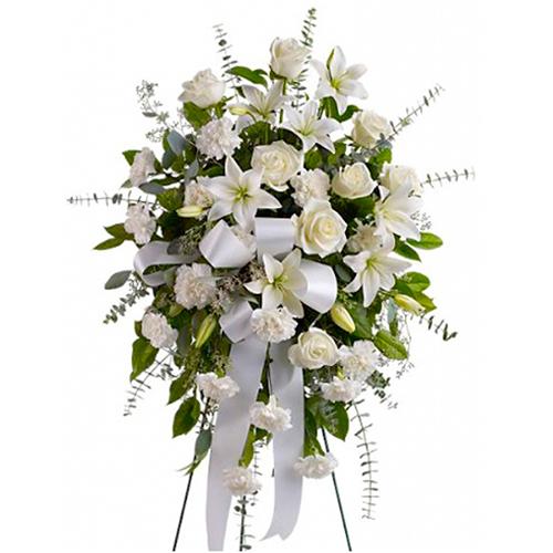 Lagrima Fúnebre De Rosas Lirios Y Lluvias Blancas
